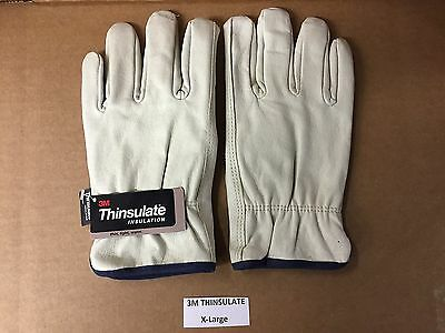 Set Of Premium 3m Thinsulate Industrial Leather Work Gloves 100 Gram X-large