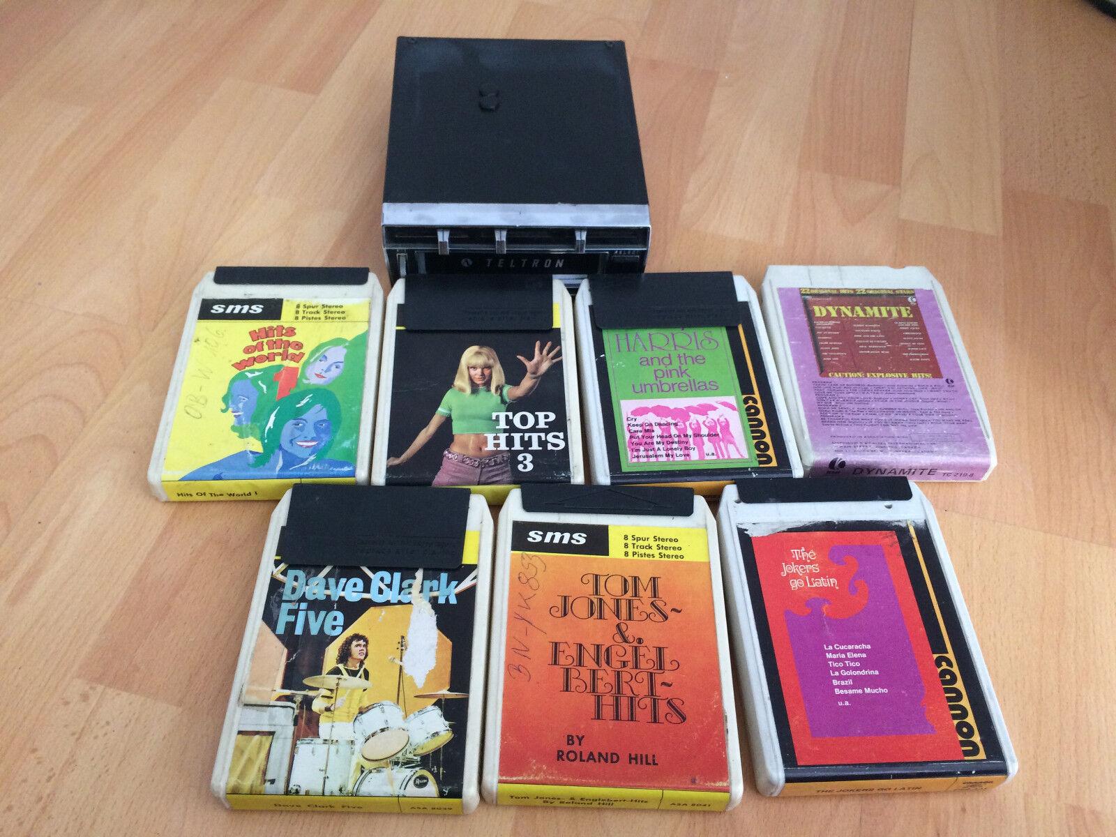 Kassettenspieler Audio  8 Spur Stereo Japan+5 Kasseten
