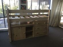 Bunkers Lo-line high bed with chest, desk, storage cupboard Berwick Casey Area Preview