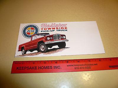 Jeep Gladiator Townside Pick-Up Truck Sales Brochure
