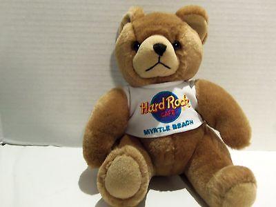 HARD ROCK CAFE MYRTLE BEACH TEDDY BEAR-LIGHT BROWN- 9  INCHES TALL Beach Teddy Bear