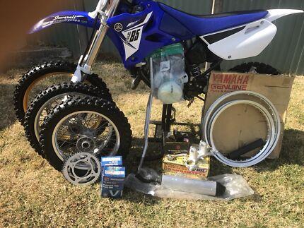 Yamaha yz85 big wheel and small wheel combo
