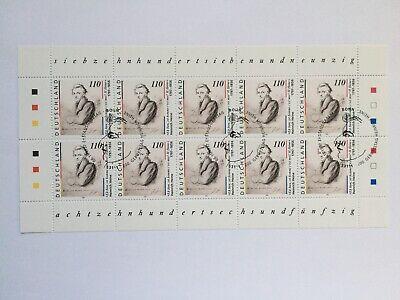 BUND BRD Kleinbogen Zehnerbogen 1962° Typ II Heinrich Heine Dichter