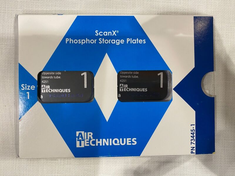 Air Techniques 73445-1 ScanX Phosphor Plates Storage Plates Size 1 2/Bx