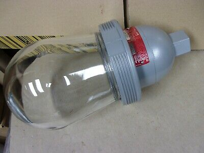 Dva-220 Killark Hubbell Light Lamp Ceiling Explosion Proof Glass Shade Hazardous