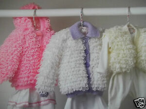 Details about BABY GIRL LOOPY CARDIGAN HOODY DK KNITTING PATTERN 16-24
