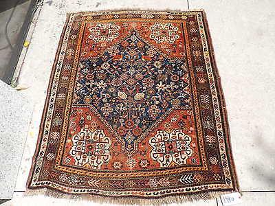 4x5ft. Antique Persian Quasqui Wool Rug