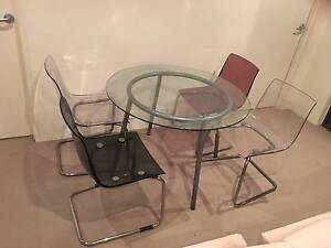 4 Plastic Clear Dining Chairs Alexandria Inner Sydney Preview