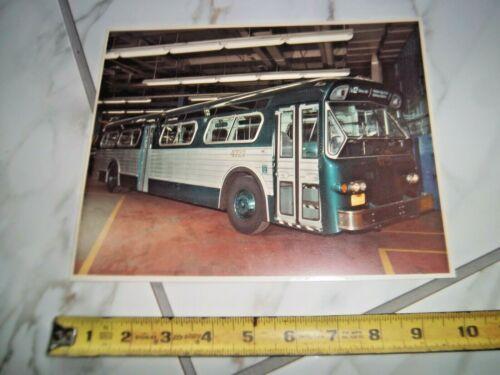 8X10 NYC NY BUS #4727 SHORE ROAD PELHAM BAY PARK SUBWAY STATION COLOR PHOTO