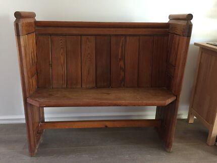 beautiful antique church pew bench seat