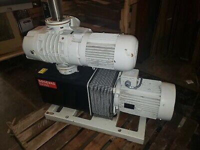 Leybold Wsu501 Ruvac Blower Booster Vacuum Pump W Leybold Sogevac Sv300 Pump