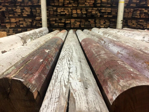 Reclaimed Wooden Columns (Heart Yellow Pine) - 50+ Available