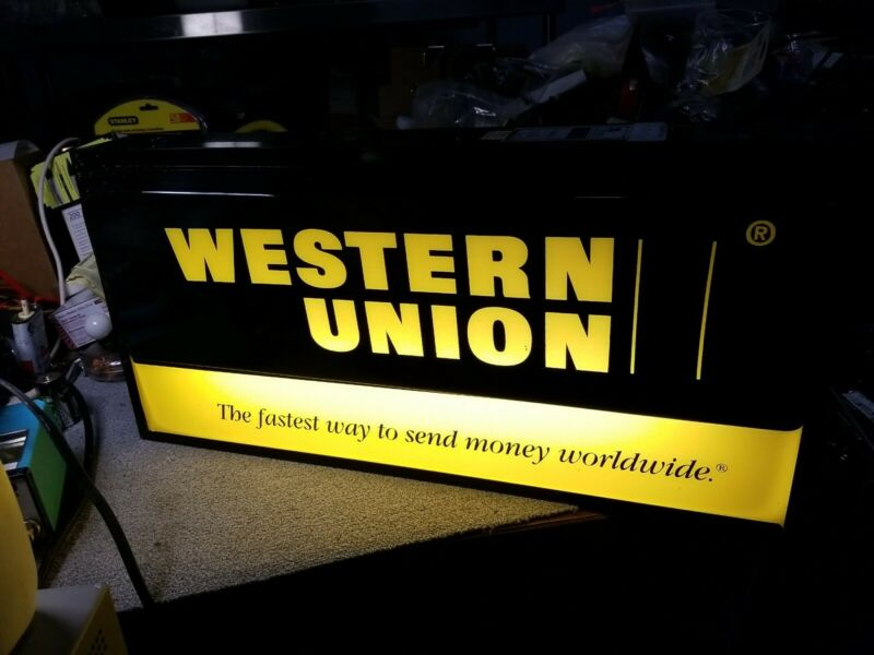 WESTERN UNION LIGHTED SIGN