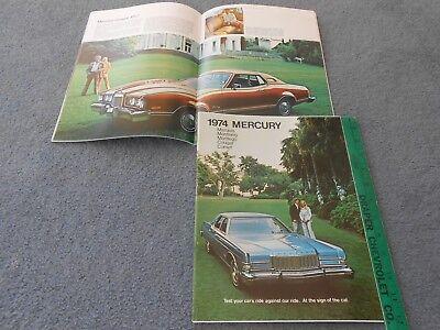 1974 MERCURY MARQUIS MONTEREY MONTEGO COUGAR COMET 48 p. PRESTIGE 74 BROCHURE