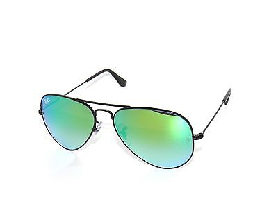 ~RAY BAN SunglaSSes 3025 BLACK/MIRROR GRADIENT GREEN 002/4J Rayban 58 (Female Ray Bans)