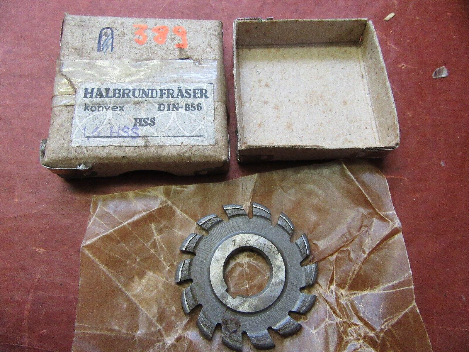Halbkreisformfräser konvex  1,6HSS 50/3 Halbrundfräser Halbkreisfräser  #F389#