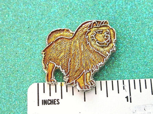 CHOW CHOW - hat pin , tie tac , lapel pin ,hatpin GIFT BOXED goldish brown