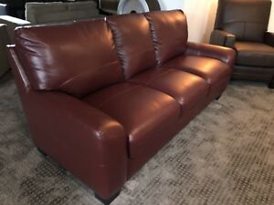 Top Grain Leather Sofa - BRAND NEW