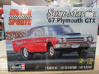 "1967 Plymouth GTX  ""Sox & Martin"" Plastic Model Kit NIB"
