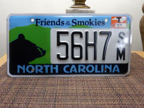 NORTH CAROLINA LICENSE PLATE FRIENDS OF THE SMOKIES