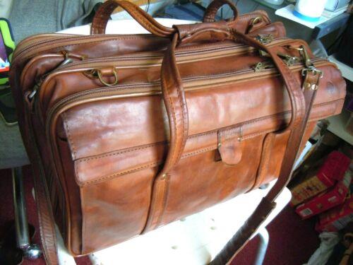 "Vintage HARTMANN  Belting Leather Carry on Luggage Travel Bag  19"""