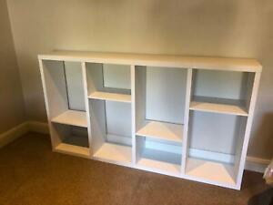 White Tomnas 6-Unit Shelf in great condition   Versatile Shelf
