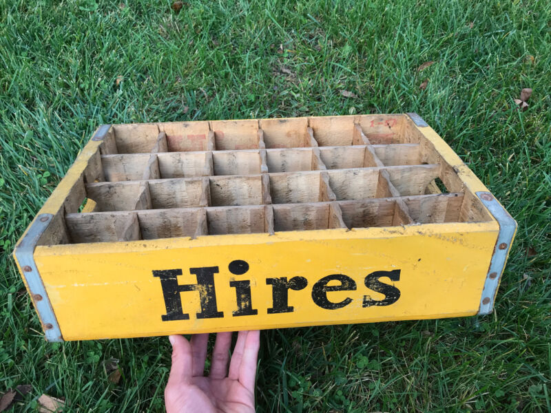 Hires Root Beer Wooden Crate Pop Soda Advertising Sign Cape Girardeau Missouri