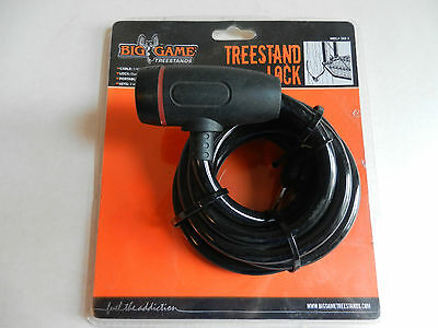 Big Game Treestands; 6' Long Rubber Coated Cable Treestand Lock; 2 Keys;  CR98-V