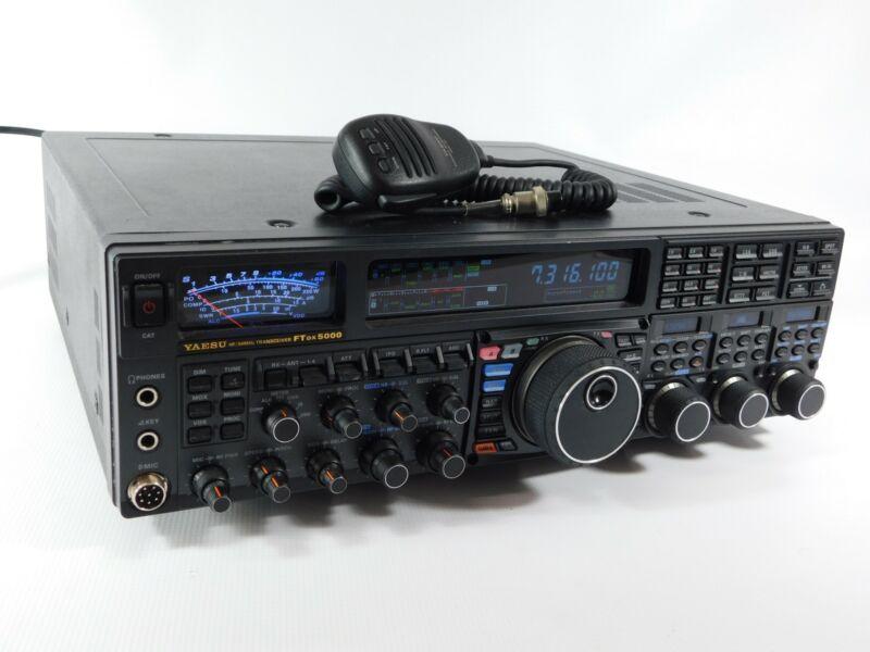 Yaesu FTdx5000MP Ham Radio Transceiver w/ Mic + AC Cord (works great)
