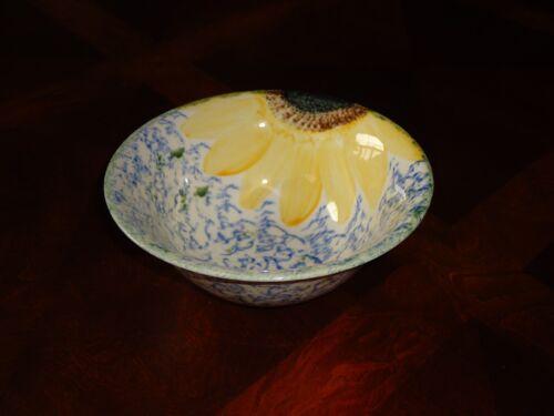 "BEAUTIFUL Poole Pottery England Vincent Sunflower 6 1/2"" Soup Bowl"