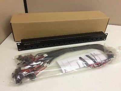 NEW Muxlab Passive CCTV Hub Plus 500134 w/ Power Pigtail UTP / Coax Muxlab Hub