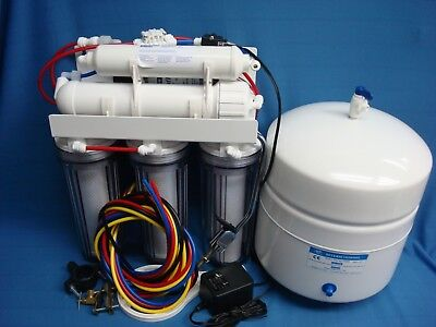 5 stage RO system clear Housings BOOSTER pump H2OSPLASH