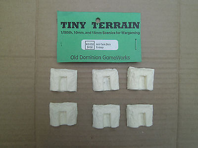 1/285th Scale Tiny Terrain Resin Anti Tank Ditch End Caps