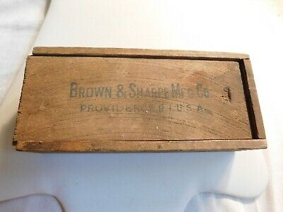 Brown Sharpe Micrometer Caliper In Original Wood Box With Instructions Vintage