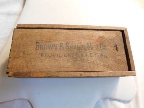 Brown & Sharpe Micrometer Caliper in Original Wood Box with Instructions Vintage