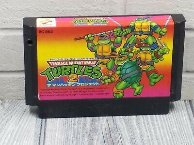 TEENAGE MUTANT NINJA TURTLES II 2 FAMICOM Cart TESTED NES US SELLER Nintendo