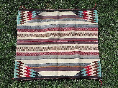 Antique Navajo Rug Childs Chief Blanket Manta Native American Weaving 33x30