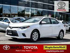 2015 Toyota Corolla LE - BACKUP CAM, 1 OWNER, LOW KMS
