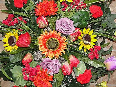 Harvest Fall Summer Headstone Memorial Cemetery Grave Pillow Silk Sympathy Spray