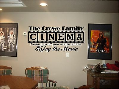 Cinema Theatre customized sign home movie theater ...