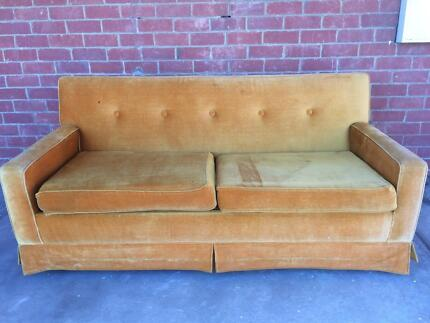 Gorgeous golden couch - FREE