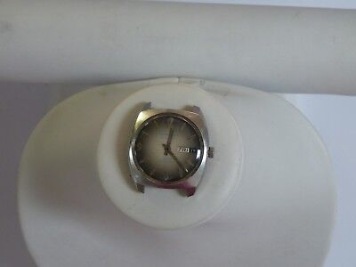 VINTAGE CARAVELLE AUTOMATIC STAINLESS STEEL DAY/DATE WATCH