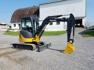 2010 John Deere 35d Hydraulic Mini Excavator Track Hoe Diesel Tractor Machine...