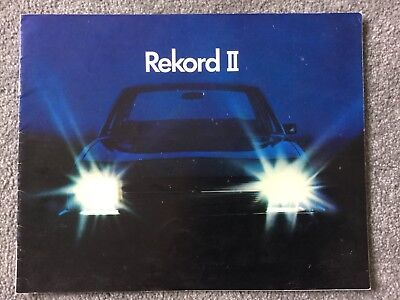 Rekord ll brochure coupe Deluxe, 5 Dr Estate Deluxe  RARE