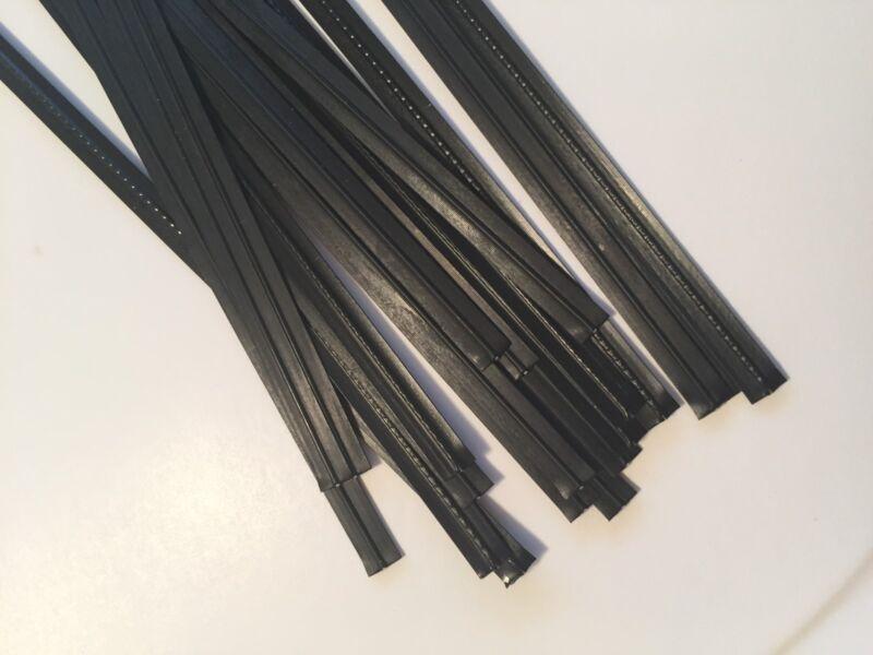"(500 pcs) Black Plastic Twist Ties 5/32"" x 6"" bag tie cello"