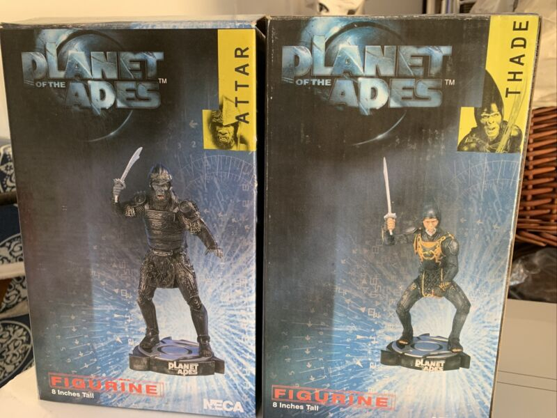 """Attar and Thane Set Of 2 - Planet Of The Apes Statues Movie Figurine 8""""NECA 2001"""