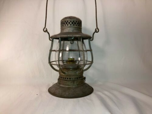 Antique C.T. Ham Bell Bottom Railroad Lantern 39 Railroad Pat. 1893