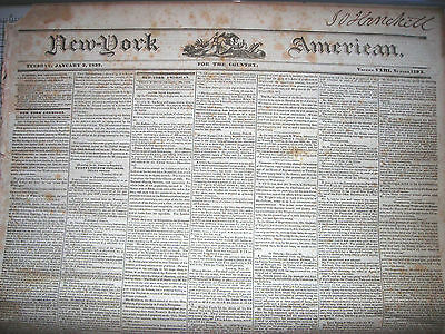 New York American  For The Country  Newspapers  January 3   6  1837