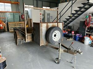 7x5 Box Trailer with Toolbox, Mounting Rack & Water Storage