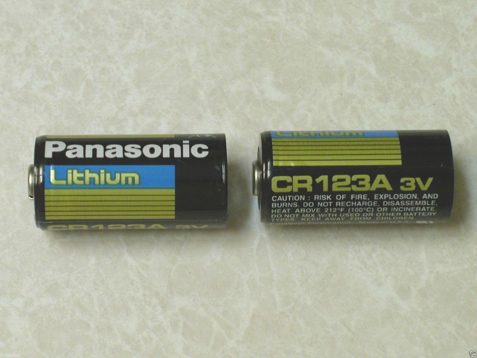 4 PANASONIC CR123A 123 SF123A BATTERY CR123 LITHIUM 1550 mah PHOTO EXPIRE 2024